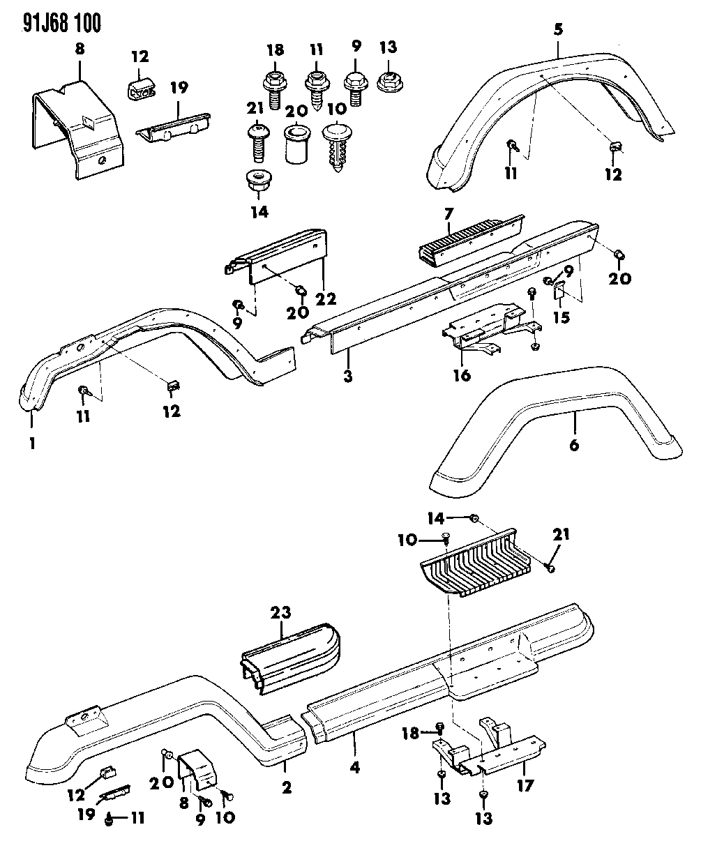 Reference Jeep Wrangler Guide Jurassic Park Motor Pool Lighting Schematic Fender Flares