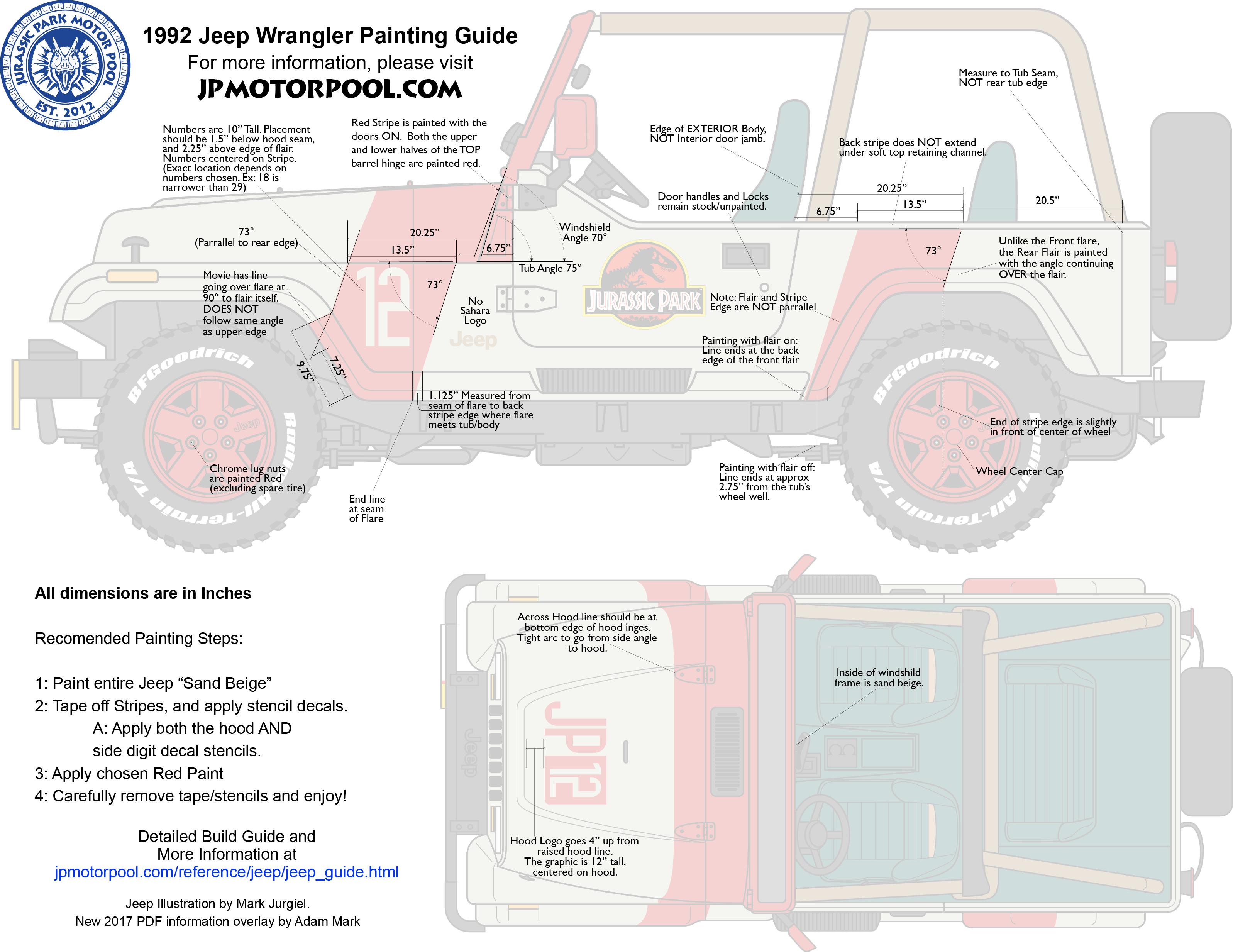 Reference Jeep Wrangler Guide Jurassic Park Motor Pool Jpmotorpool Com