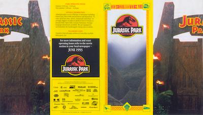 Jurassic World Map Pdf. Jurassic Park Opening Brochure Reference  Printable Props Motor Pool