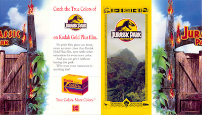 jurassic park map and brochure